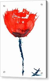 Poppy Acrylic Print by Zaira Dzhaubaeva