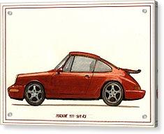 Porsche 911 964 Rs Acrylic Print by Juan  Bosco