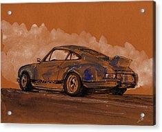 Porsche 911 Rs Classic Acrylic Print by Juan  Bosco