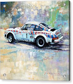 Porsche 911 Sc  Rallye Sanremo 1981 Acrylic Print by Yuriy Shevchuk