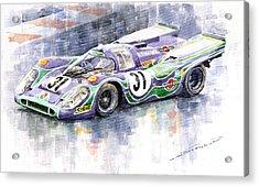Porsche 917 K Martini Racing 1970 Acrylic Print by Yuriy  Shevchuk