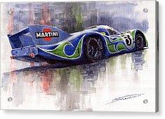 Porsche 917 Psychodelic  Acrylic Print by Yuriy Shevchuk