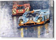 Porsche 917k 1000km Zeltweg Austria 1970  Acrylic Print by Yuriy Shevchuk