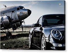 Porsche Takes Flight Acrylic Print by Bob Rapfogel