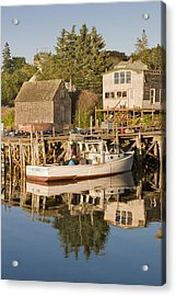 Port Clyde Maine Boats And Harbor Acrylic Print by Keith Webber Jr