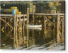Port Clyde Maine Small Boat And Harbor Acrylic Print by Keith Webber Jr