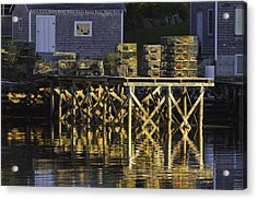 Port Clyde Pier On The Coast Of Maine Acrylic Print by Keith Webber Jr
