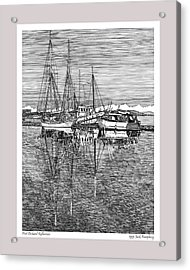 Reflections Of Port Orchard Washington Acrylic Print by Jack Pumphrey