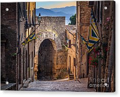 Porta Dell'arco Acrylic Print by Inge Johnsson