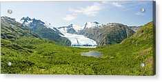 Portage Glacier And Portage Lake Acrylic Print by Panoramic Images