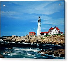 Portland Head Lighthouse Acrylic Print by Bill Dunkley