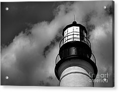 Portland Head Lighthouse In Black And White Acrylic Print by Diane Diederich