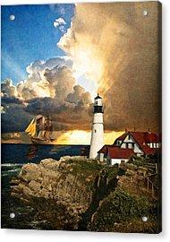 Portland Head Lighthouse Acrylic Print by Lianne Schneider