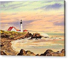 Portland Head Lighthouse Maine Acrylic Print by Bill Holkham