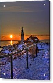 Portland Head Lighthouse Sunrise - Maine Acrylic Print by Joann Vitali