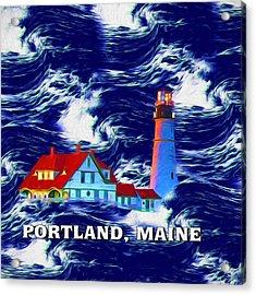 Portland Maine Acrylic Print by John Haldane