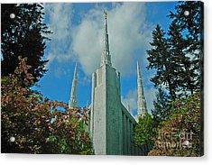 Portland Oregon Lds Temple Acrylic Print by Nick  Boren