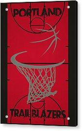 Portland Trail Blazers Court Acrylic Print by Joe Hamilton