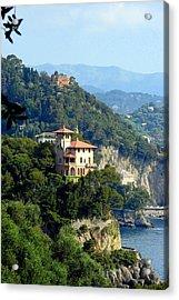 Portofino Coastline Acrylic Print by Carla Parris