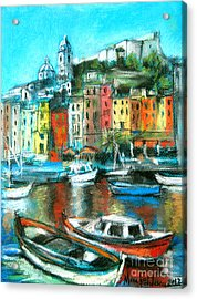 Portovenere Acrylic Print by Mona Edulesco