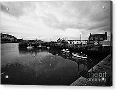 Portpatrick Harbour Scotland Uk Acrylic Print by Joe Fox