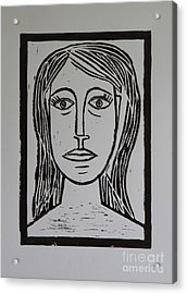 Portrait A La Picasso Acrylic Print by Christiane Schulze Art And Photography