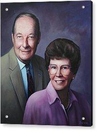 Portrait For Cathy Crissman Acrylic Print by Richard Barone
