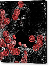 Portrait In Black - S0201b Acrylic Print by Variance Collections