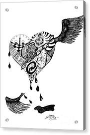 Portrait Of A Broken Heart Acrylic Print by J M Lister