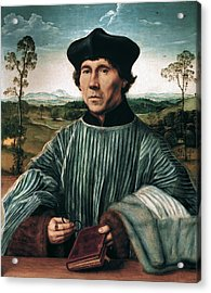 Portrait Of A Canon Acrylic Print by Quentin Matsys