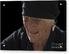 Portrait Of A Fishermans Wife Acrylic Print by Heiko Koehrer-Wagner