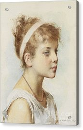 Portrait Of A Girl Acrylic Print by Celestial Images
