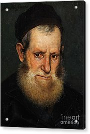 Portrait Of A Jewish Scholars Acrylic Print by Celestial Images