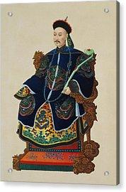 Portrait Of A Mandarin Acrylic Print by Chinese School