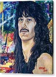 Portrait Of A Musician Acrylic Print by Karon Melillo DeVega