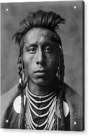 Portrait Of A Native American Man Acrylic Print by Aged Pixel