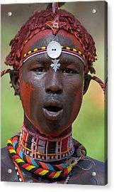 Portrait Of A Samburu Tribal Acrylic Print by Panoramic Images