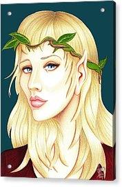 Portrait Of A She Elf Acrylic Print by Danielle R T Haney