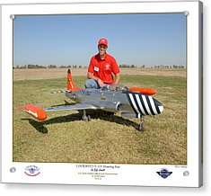 Portrait Of A Shooting Star - Jeff Lovitt And His Lockheed T-33 Acrylic Print by Ken Young