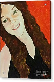 Ptg. Portrait Of A Teenager Acrylic Print by Judy Via-Wolff