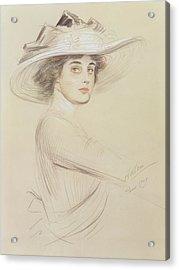 Portrait Of A Woman Acrylic Print by  Paul Cesar Helleu