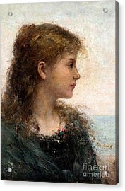 Portrait Of A Young Girl Acrylic Print by Celestial Images