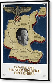 Portrait Of Adolf Hitler Acrylic Print by British Library
