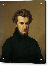 Portrait Of Ambroise Thomas 1811-96 1834 Oil On Canvas Acrylic Print by Hippolyte Flandrin