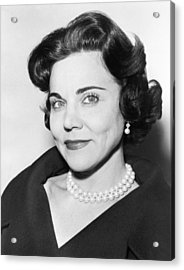 Portrait Of Ann Landers Acrylic Print by Fred Palumbo