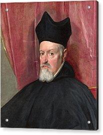 Portrait Of Archbishop Fernando De Valdes Acrylic Print by Diego Velazquez