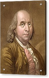 Portrait Of Benjamin Franklin Acrylic Print by Gallo Gallina