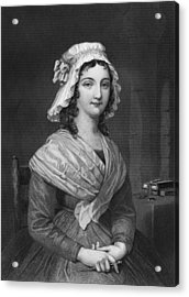 Portrait Of Charlotte Corday Acrylic Print by Underwood Archives