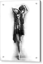 Portrait Of Dancer Agnes Boone Acrylic Print by Underwood Archives