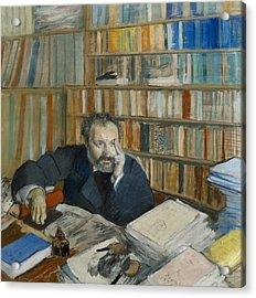 Portrait Of Edmond Duranty, 1879 Acrylic Print by Edgar Degas